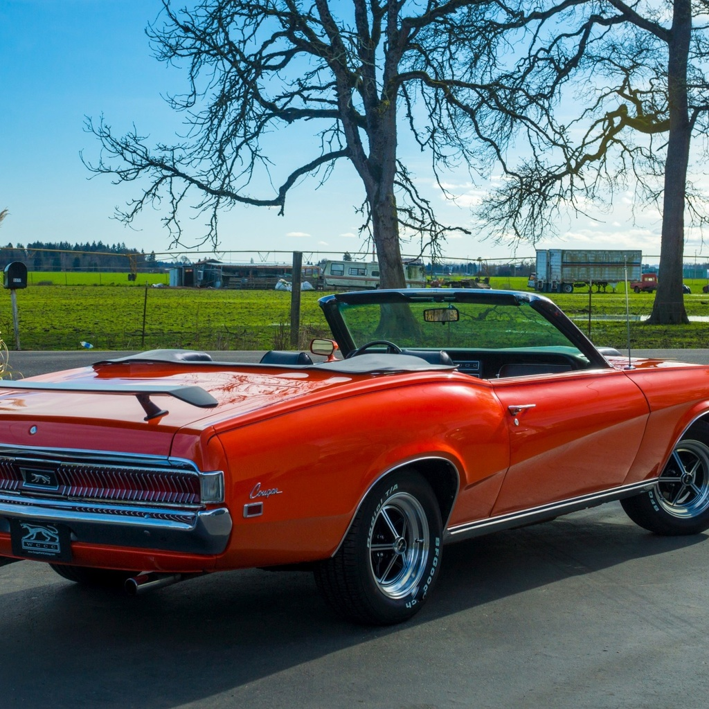 mercury, cougar, convertible, 1969