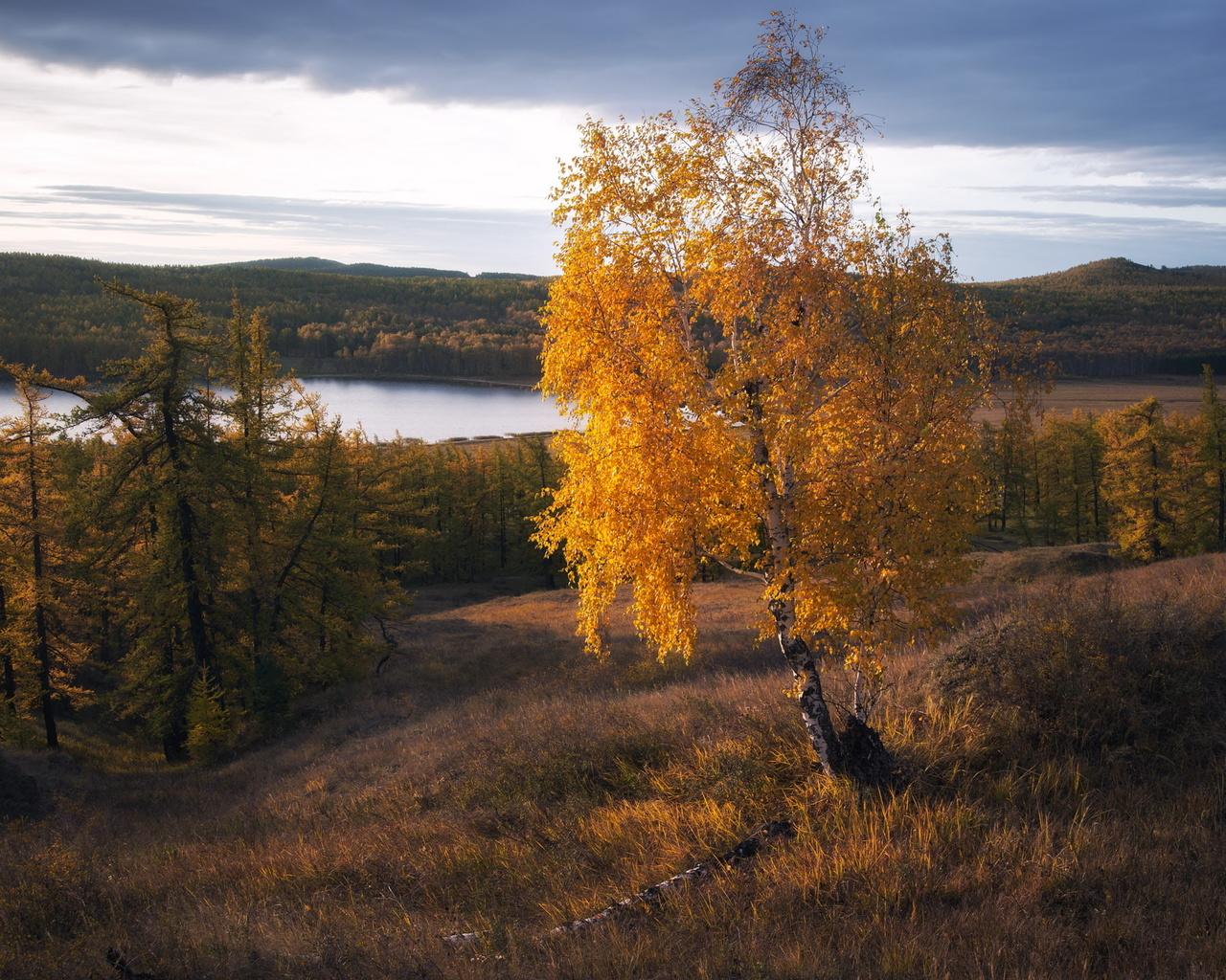 осень, озеро, калкан, башкирия, фотограф, михаил туркеев