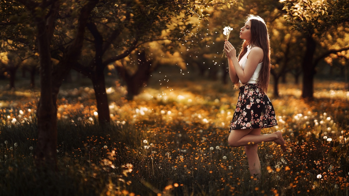 девушка, на природе, stefan hausler
