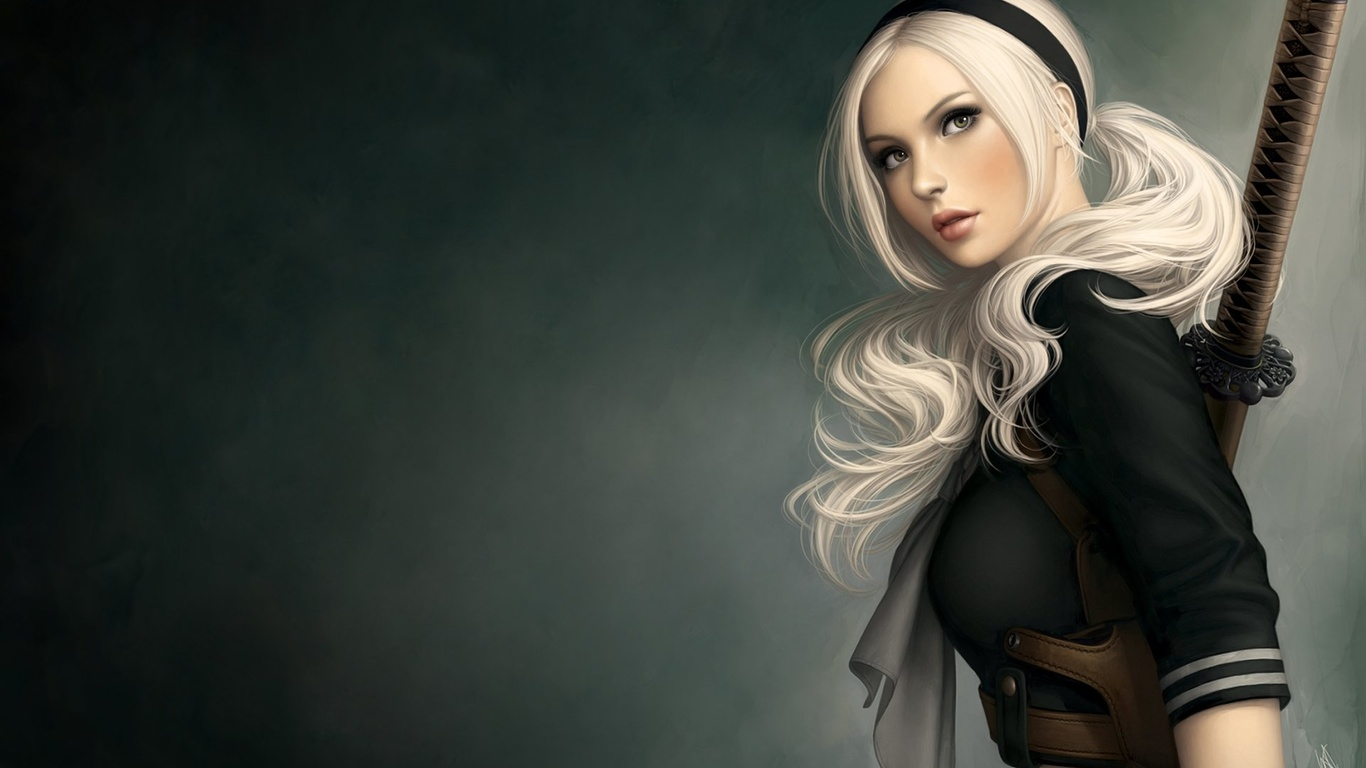 girl, beautiful, pretty, blonde, fantasy