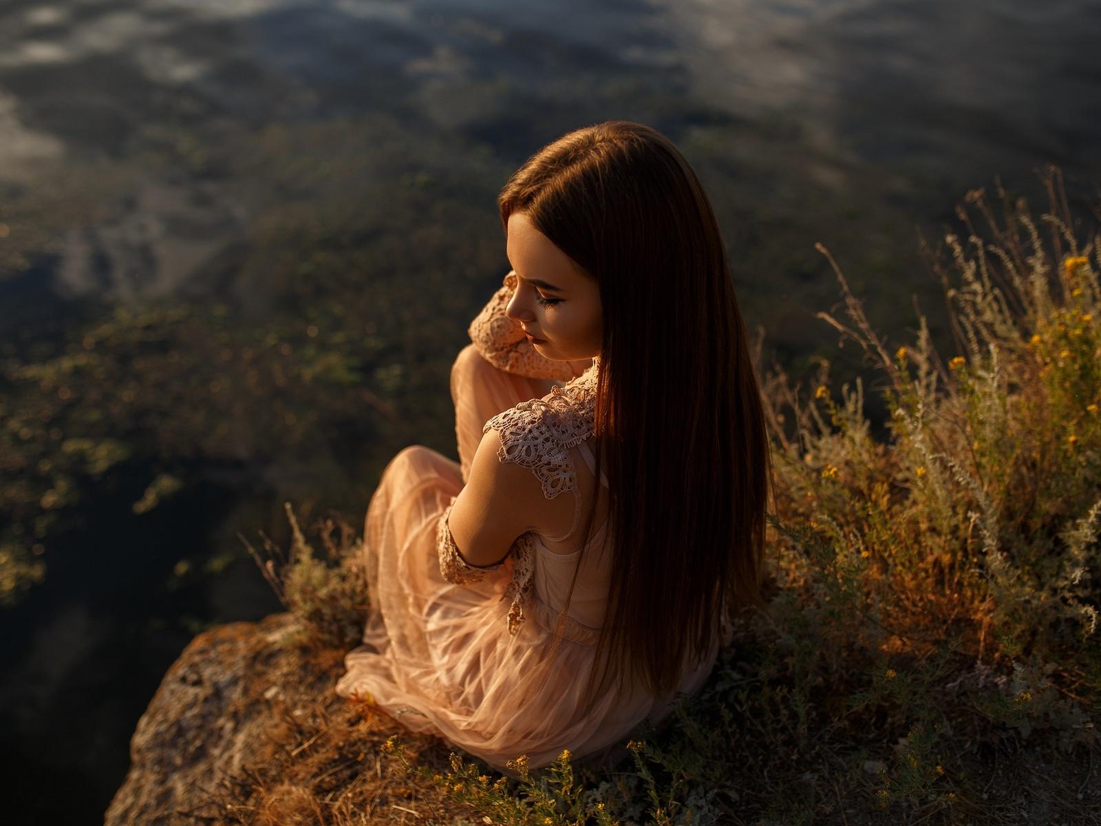 девушка, на природе, фото, anton papalutsa