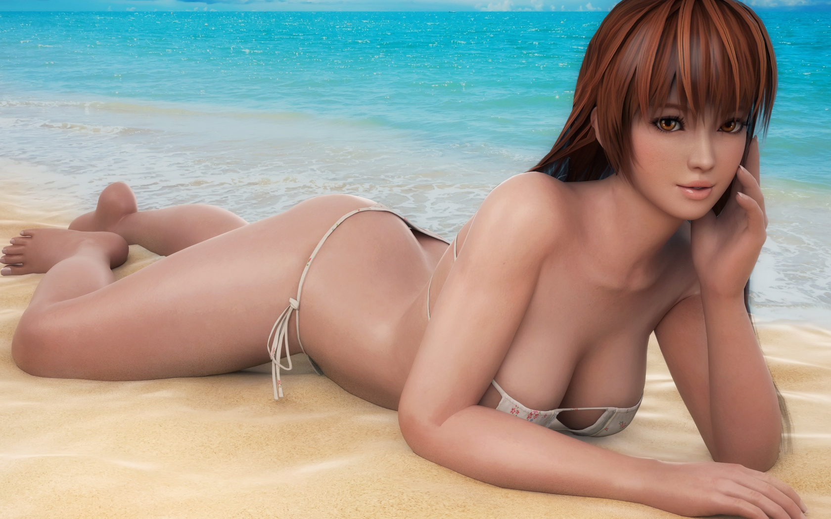 море, пляж, купальник