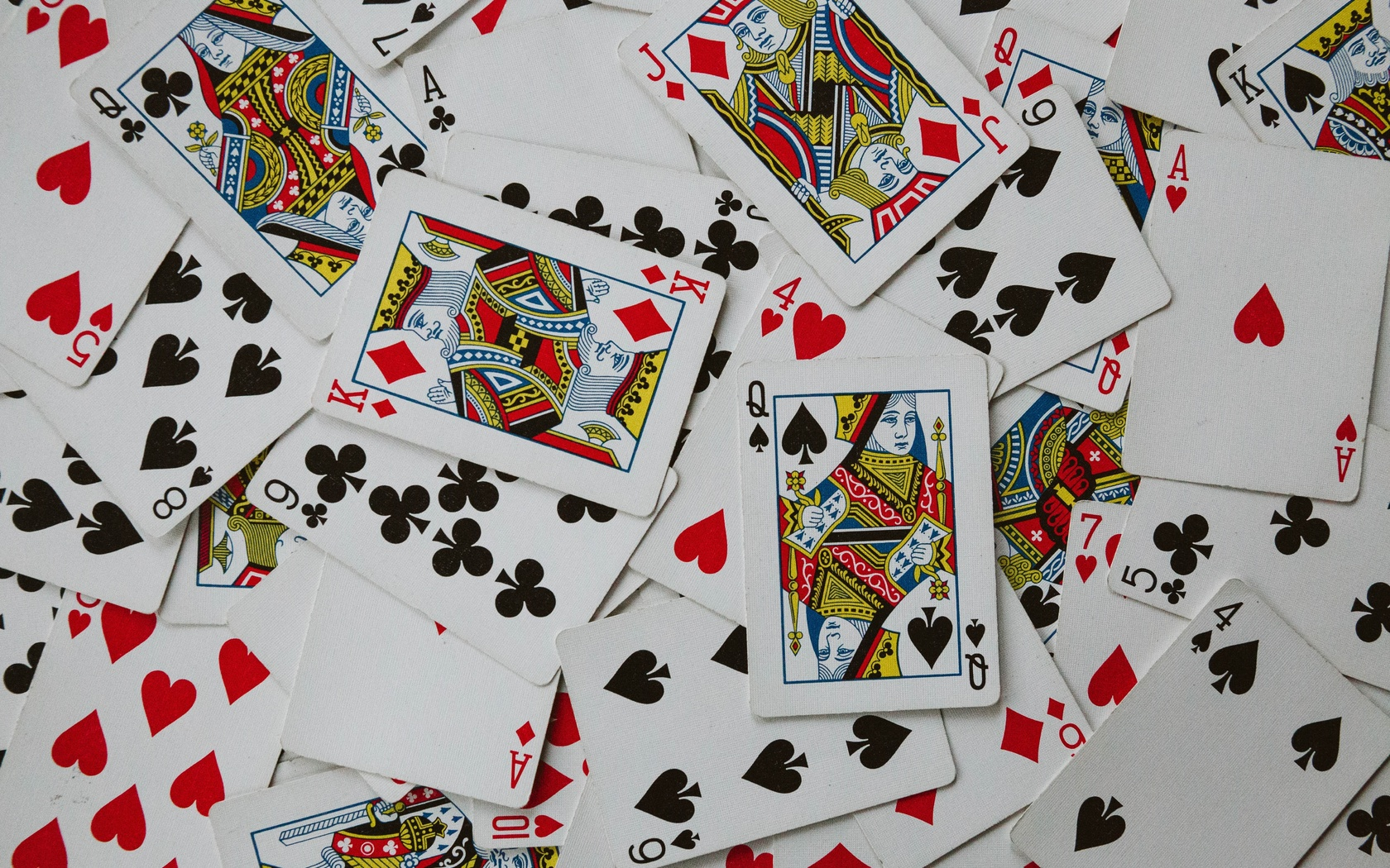 игра, карты, беспорядочный разброс