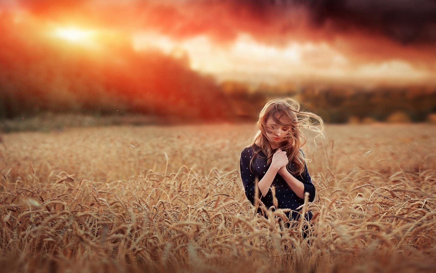 поле, девушка, фото, ренат фотов