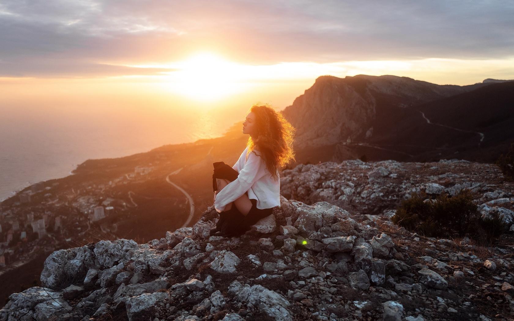 девушка, ульяна найденковая, солнце, красиво, высота, пейзаж, фото, aleks five