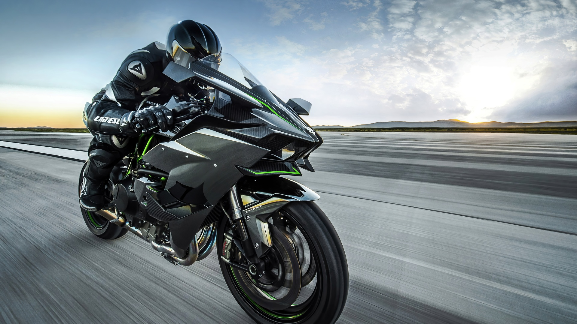 дорога, мотоциклист, скорость
