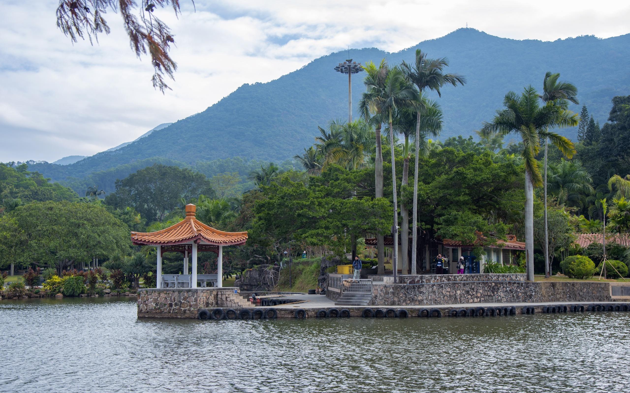 горы, парк, беседка, китай