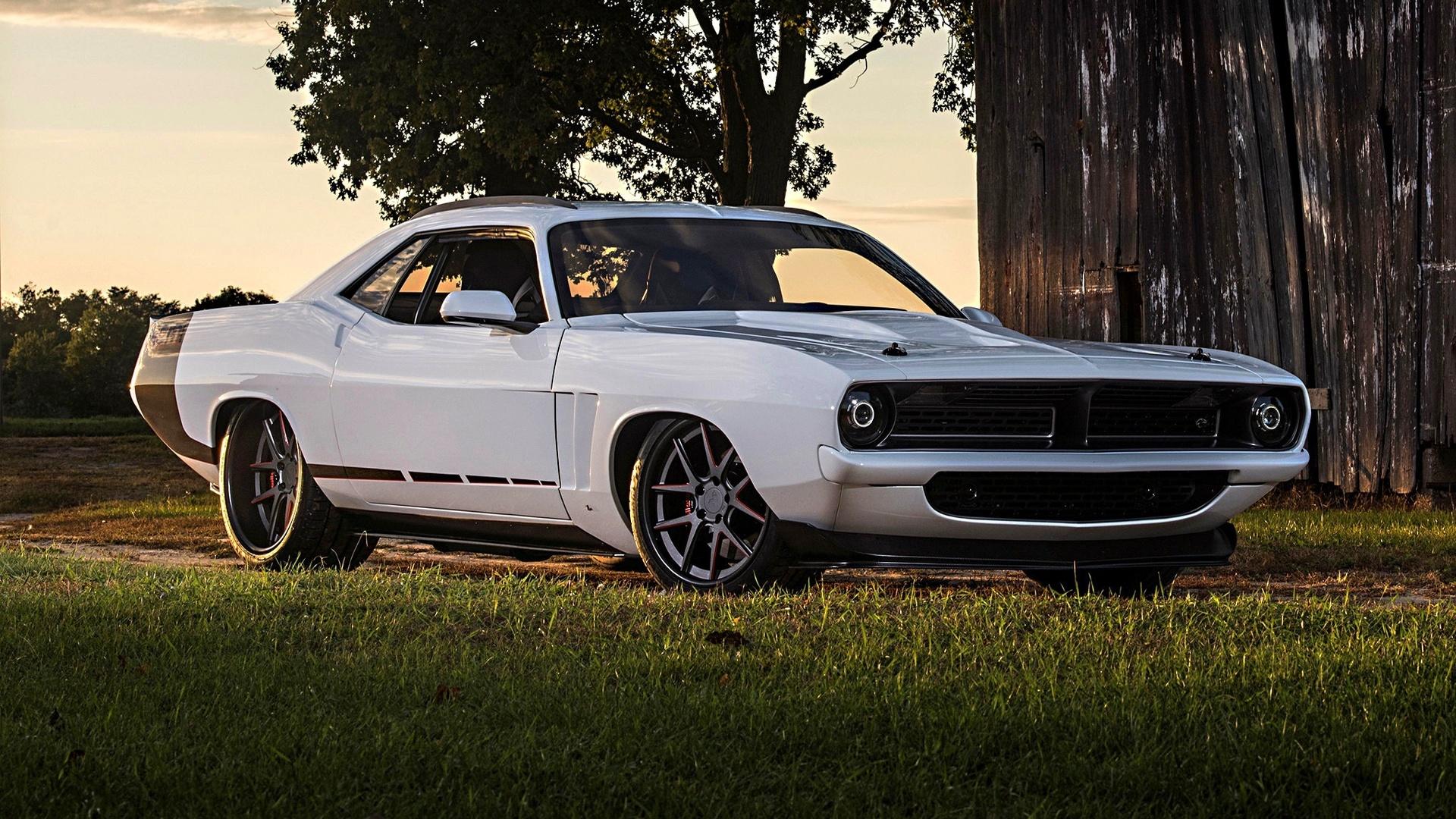 american, classic, car, plymouth, cuda