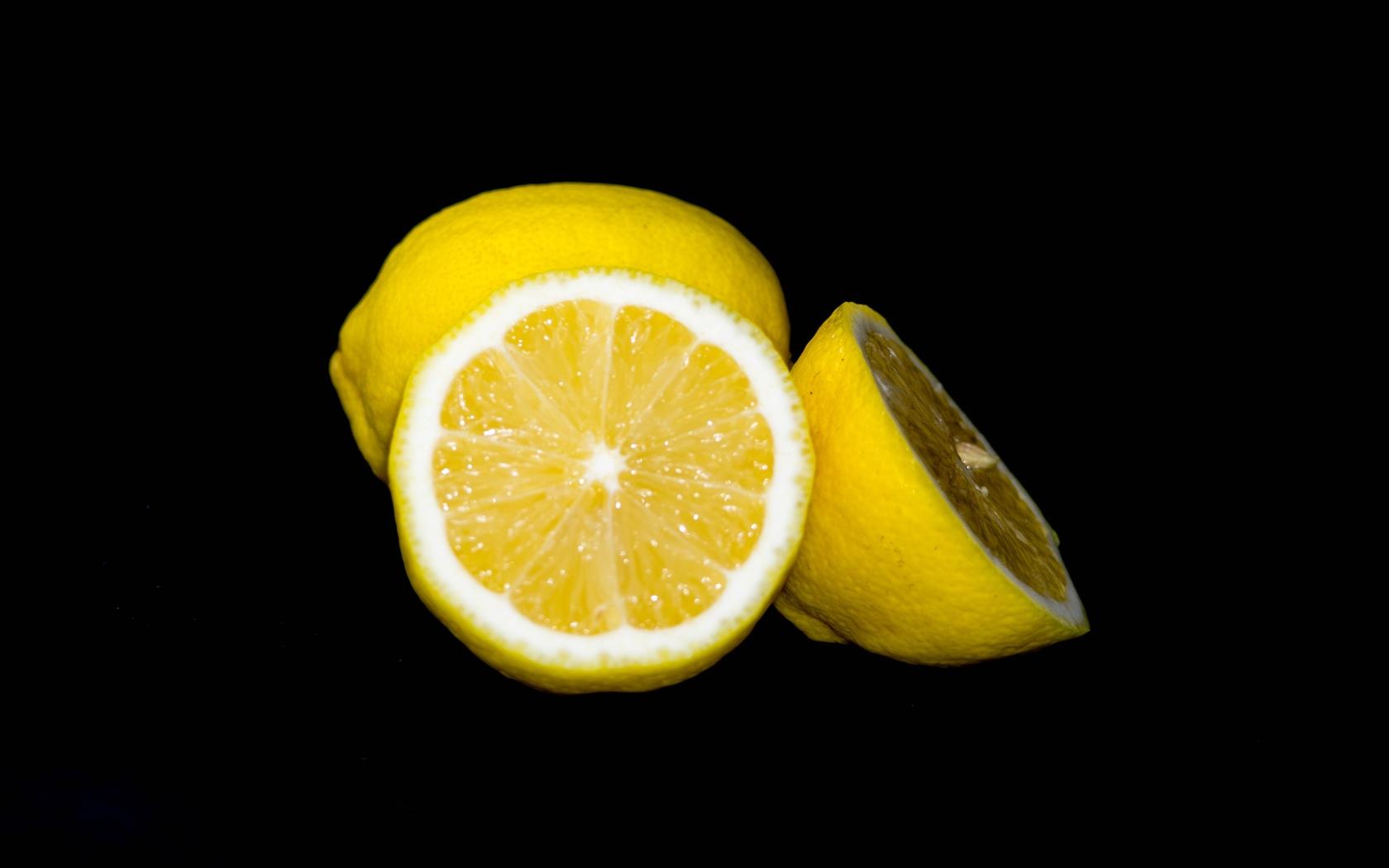 лимон, темный, фон, минимализм