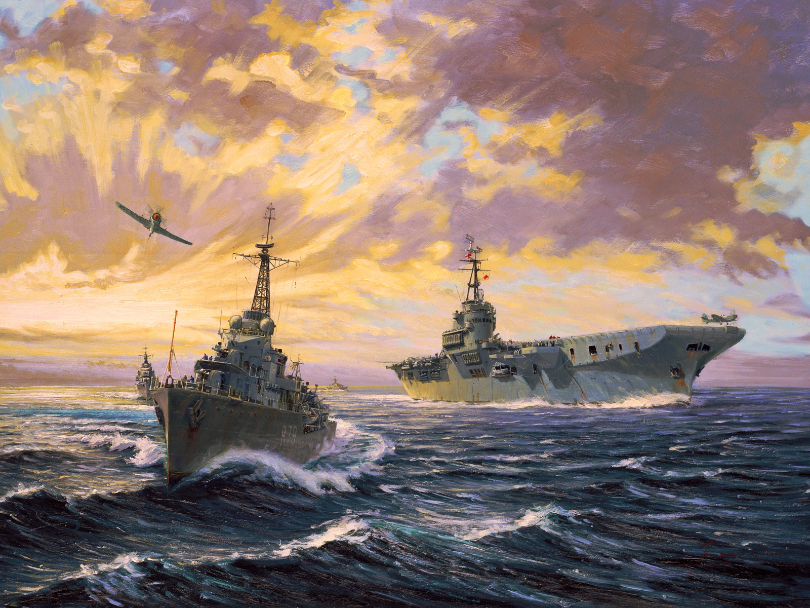 john horton, корабли, живопись, картина