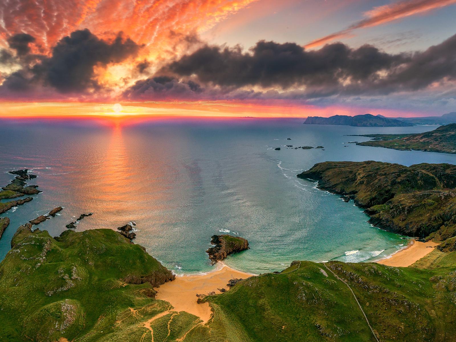 пейзаж, берег, море, небо, вечер
