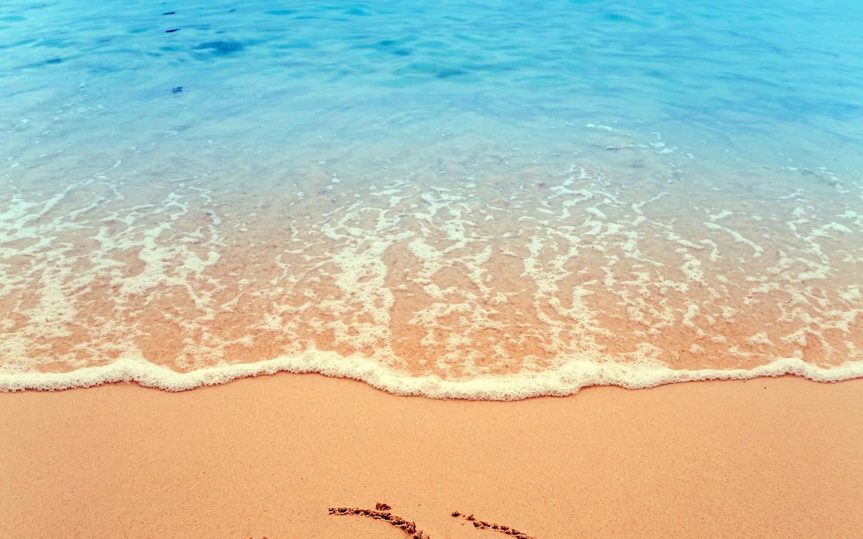 океан, прибой, пляж, песок, следы
