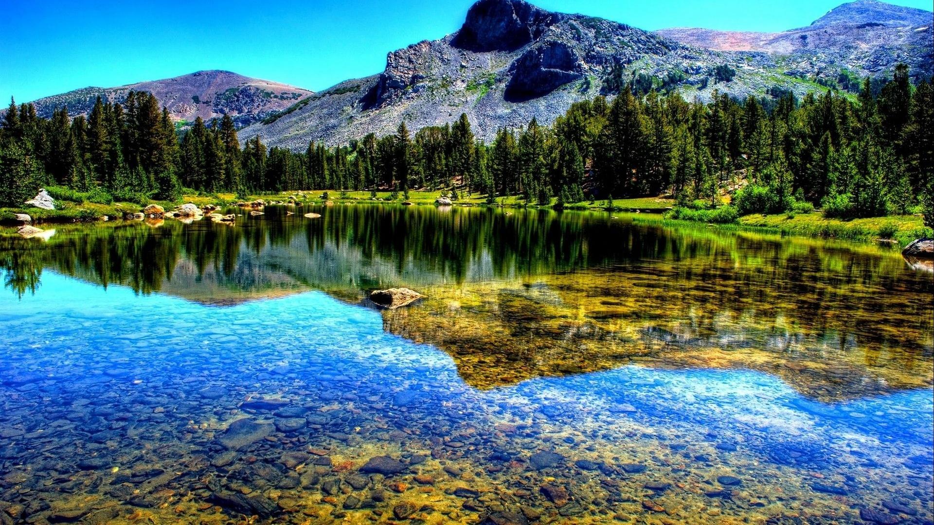 Озеро отражение разрешение картинки