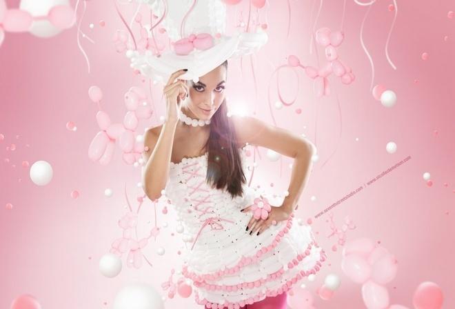 гламурная штучка, милое розовое платье, куколка