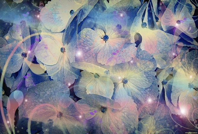 Теги фиолетово синие цвета листочки