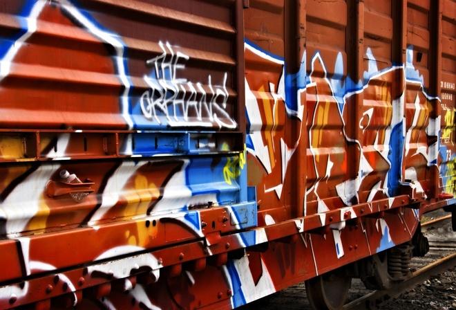 надписи на вагоне, креатив молодежи, искусство, граффити