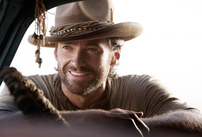 Hugh jackman, актёр, шляпа, улыбка, запад, фильм, Австралия