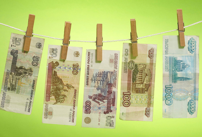 Обои деньги рубли купюры просушка