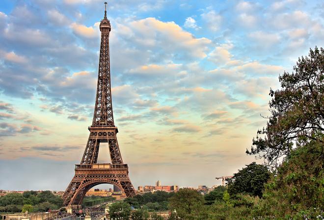 Обои париж эйфелева башня франция