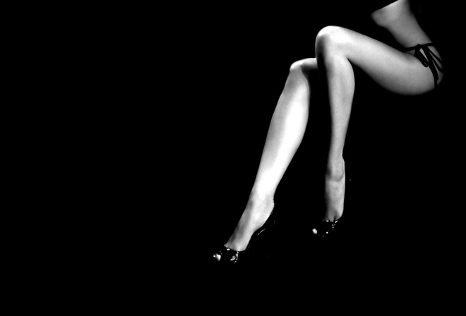 фон, женские, Черный, минимализм, стройные, ноги, чёрно-белое