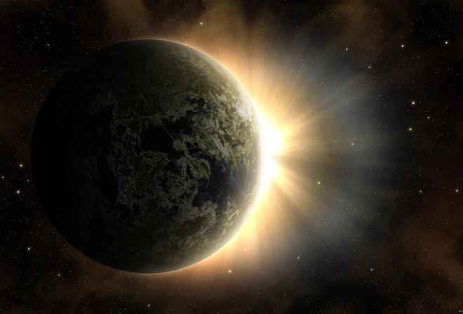 Солнце рассвет звезды земля планета