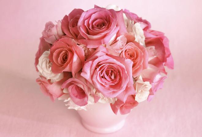 Розовый цветок букет роза цвет розы