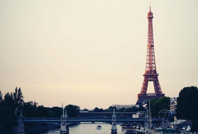 Обои небо эйфелева башня париж france