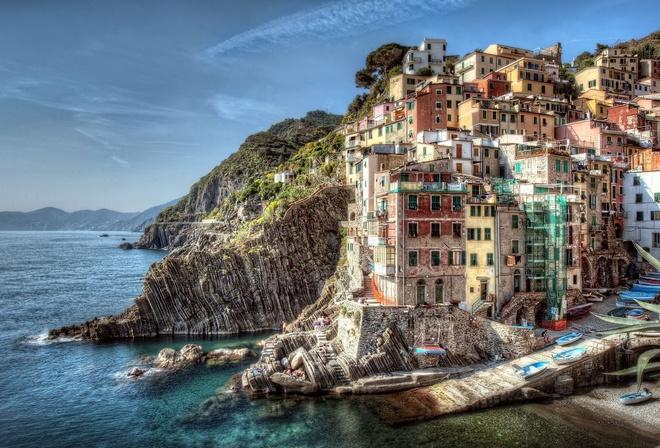 Побережье, italy, италия, riomaggiore, пейзаж
