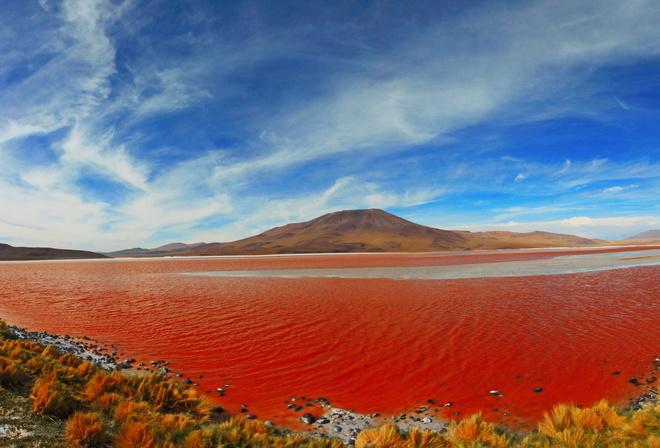 Обои красное море качество цвет