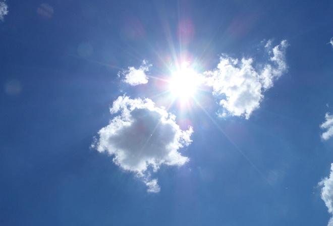 Обои небо солнце облака на рабочий