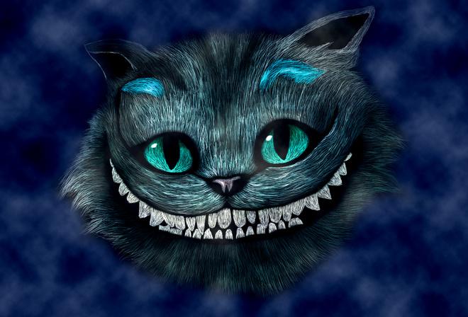 Обои и картинки чеширский кот