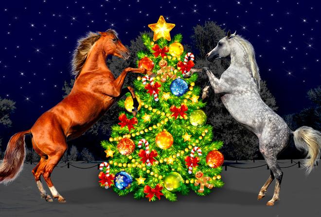 Картинка лошади для нового года