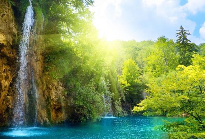 Картинки на рабочий стол лето водопады