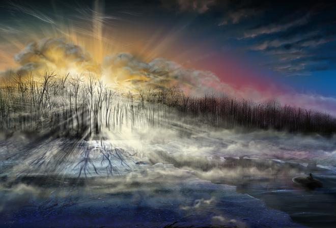 Картинки в фотошопе с зимой