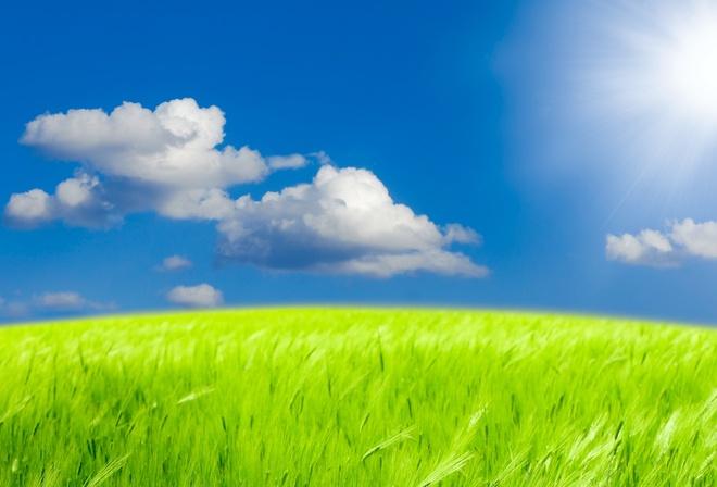 ... небо, солнце, облака, фотошоп, красиво: www.nastol.com.ua/summer/104913-priroda-ukraina-pole-pshenica-nebo...