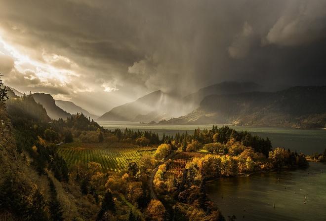 Картинки природы дождь осенью