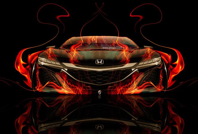 картинки машины огненные