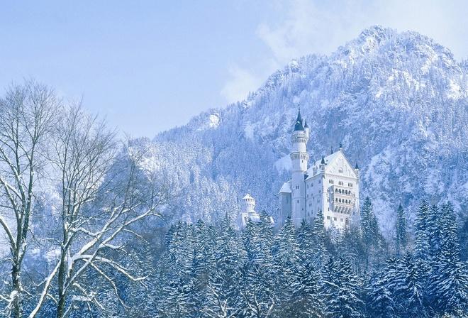 Картинки красивые замки зимой