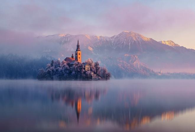 Картинки природы гор зимой красивые