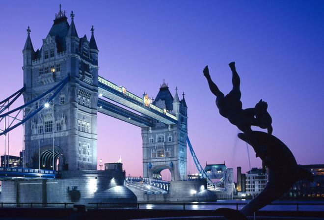 Обои тауэрский мост лондон ночь