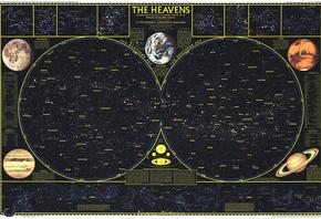 Обои карта созвездия звездное небо
