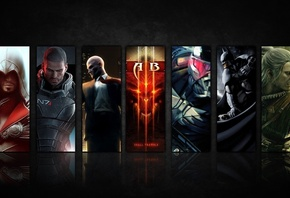 crysis, mass effect, ������, hitman, ���� ��������, Assassins creed, diablo 3