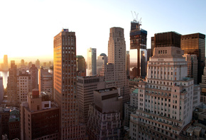 new york city, nyc, united states, sunset, �����, new york, Lower manhattan, ���-����