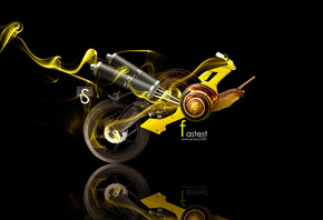 Tony Kokhan, Moto, Animal, Snail, Fantasy, Yellow, Art, Smoke, el Tony Cars, HD Wallpapers, ���� �����, �������, �����, ����, ��������, ���, ������, ���, ������, ������, ��� �����, ����, 2014, ������, ���
