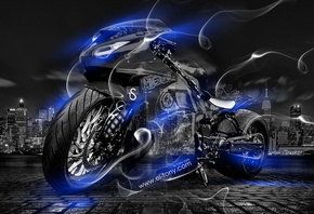 Tony Kokhan, Moto, Smoke, Crystal, City, Bike, Blue, Neon, el Tony Cars, HD Wallpapers, ���� �����, �������, �����, ����, ��������, ����, ����, ���, ����������, �����, ����, �����, �������, ����, ���, ����, 2014