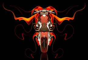 Tony Kokhan, Moto, Bike, Fire, Abstract, Orange, Black, Chopper, el Tony Cars, Photoshop, HD Wallpapers, ���� �����, �������, ����, ��������, ����, ��������, �����, ������, ���, �����, ��� ������, ��������, ����, 2014