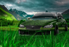 Tony Kokhan, Toyota, Mark X, JDM, Crystal, Nature, Green, Grass, Tuning, el Tony Cars, Photoshop, HD Wallpapers, ���� �����, �������, ������, ����, ���, ����������, ������, ����������, ����, ����, 2014, �����, �������, �������, ����, ���