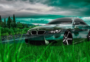 Tony Kokhan, BMW, M3, E92, Crystal, Nature, Car, Green, Grass, el Tony Cars, Photoshop, Art, HD Wallpapers, ���� �����, �������, ���, �3, ����, �92, ����������, ������, ����������, ����, �������, �������, �����, ����, ���, �����, 2014