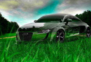 Tony Kokhan, Audi, TT, Tuning, Crystal, Nature, Car, Green, Grass, HD Wallpapers, el Tony Cars, Photoshop, Design, Art, ���� �����, �������, �����, ����, ��, ������, ����������, ������, ����������, ����, �������, �����, ����, ���, 2014