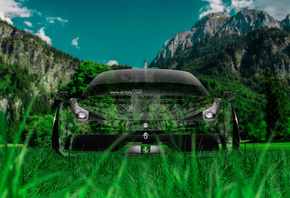 Tony Kokhan, Ferrari, Italia, 458, Front, Crystal, Nature, Green, Grass, Car, Photoshop, el Tony Cars, Design, Art, HD Wallpapers, ���� �����, �������, ����, ���, 2014, �������, ������, ��� �������, ����������, ������, ����������, ����, �������, �����